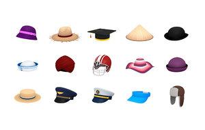 hats helmet 3 cap 3D model