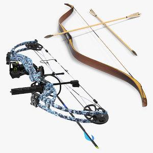 bows compound antique 3D model