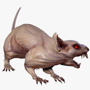 mutant rat animations model