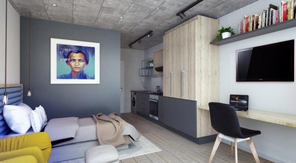 small apartment interior model