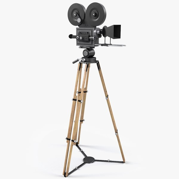 retro movie camera 3D model