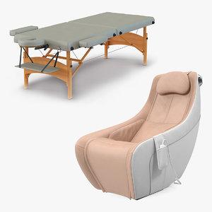 massage table chair 3D model