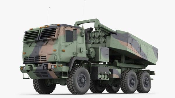 3D m142 himars army truck model