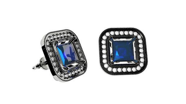 3D earrings square model