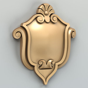 decorative cartouche 3D model