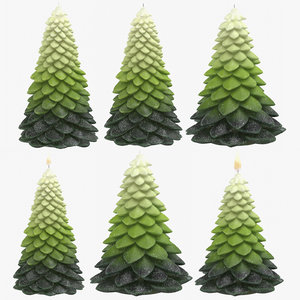 3D green christmas tree shaped