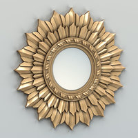 carved mirror frame 3D model