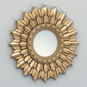 carved mirror frame 3D model