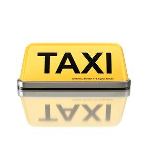 taxi sign model