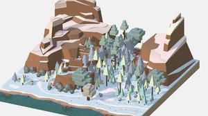 3D isometric style winter big