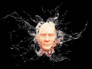 3D splash face model