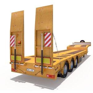 3D platform trailer model