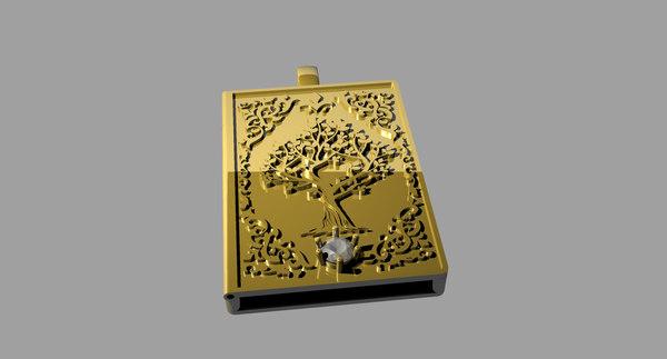 3D book tree model