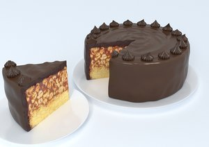 snickers cake 3D model