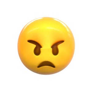emoji angry face model