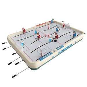 3D ussr hockey table model