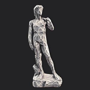 david stylized 2 3D model