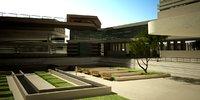 3D v-ray modern university