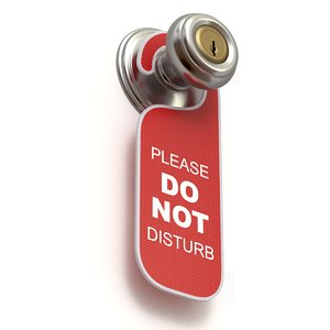 door hanger disturb 3D