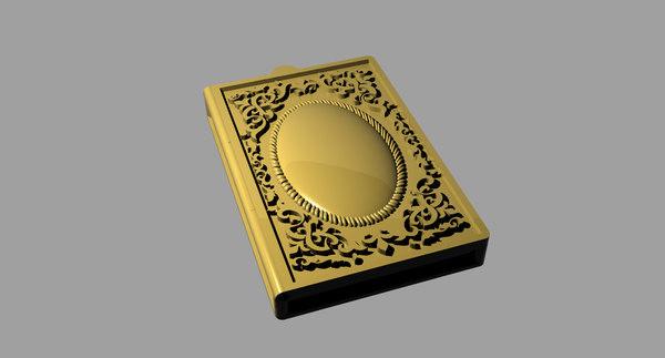 3D pendant book