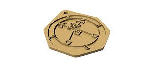 3D pentagram pendant bael model