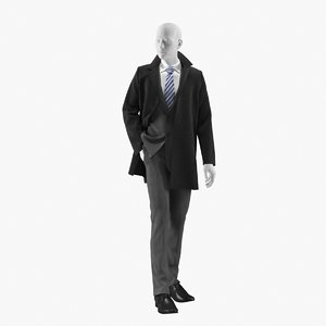 realistic mannequin coat 3 model