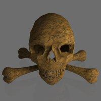 human skull bones 3D model