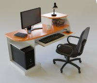 Desktop Computer Table and Chair