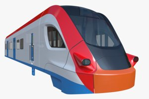 3D ivolga train model