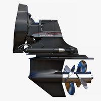 sterndrive mercruiser bravo 3D
