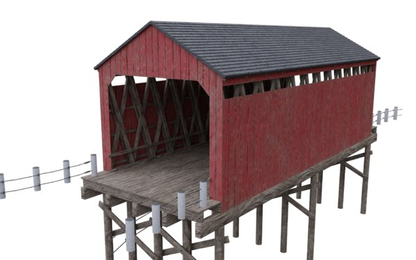 wood bridge model