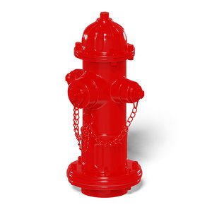 classical red hydrant 3D model