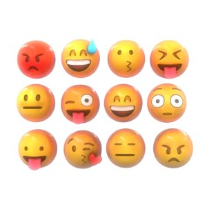 emoji smile pack 3D model
