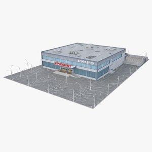 3D supermarket product model