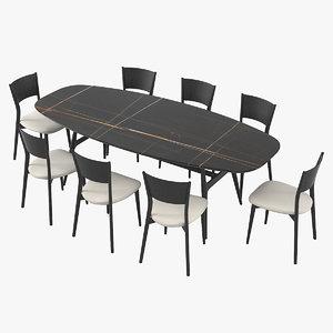 3D misuraemme gaudi berta dining table