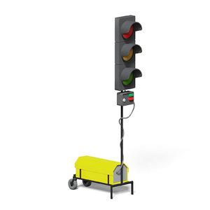 3D model portable traffic lights