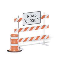 closed road sign 3D model