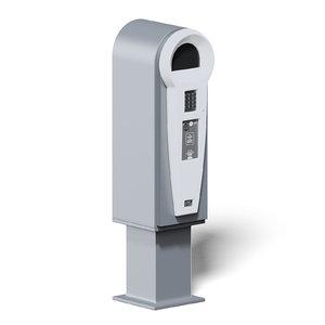 electronic parking meter 3D