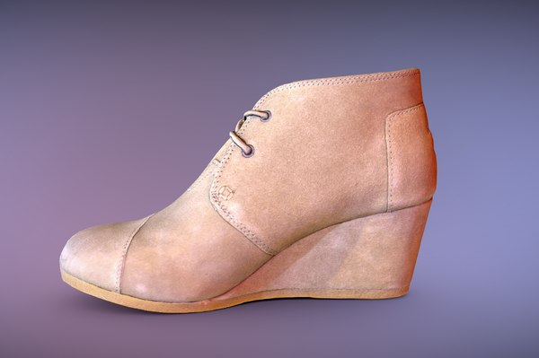 toms desert wedge shoe model