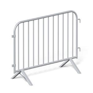 3D metal street barrier model