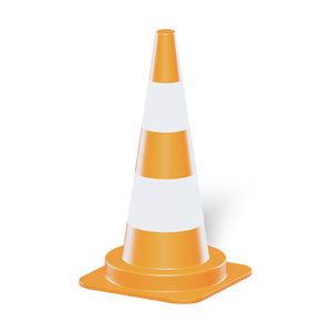 3D orange traffic cone