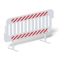 white crash barrier 3D model