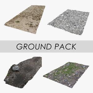 3D ground pack gravel pathway