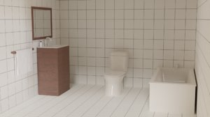 3D furniture bathroom model