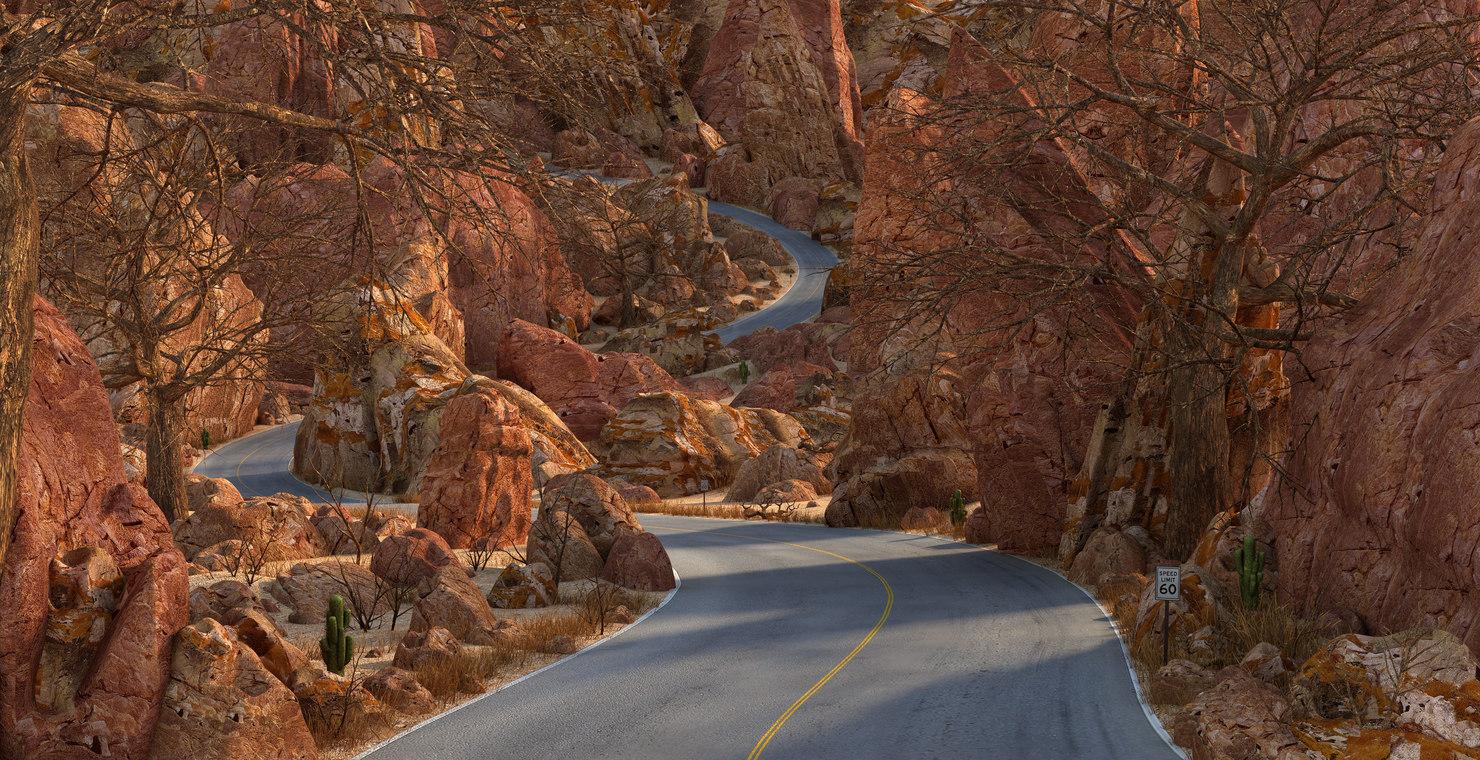 desert road rock 3D model
