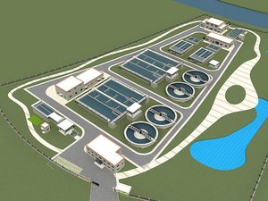 sewage water treatment station model