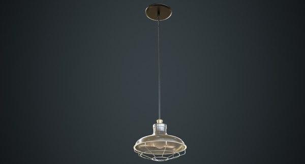 hanging lamp 1b 3D model
