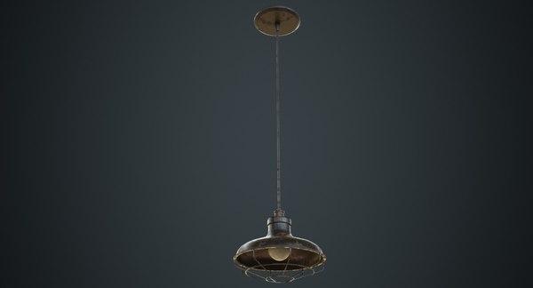 hanging lamp 1c 3D model