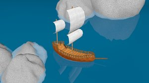 old ship 3D