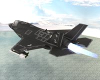3D ghost x fighter jet model